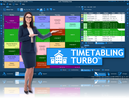 School Scheduling Software and School Timetable Software - Lantiv Timetabling Turbo